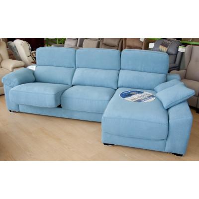 Sofá chaiselongue con asientos deslizantes