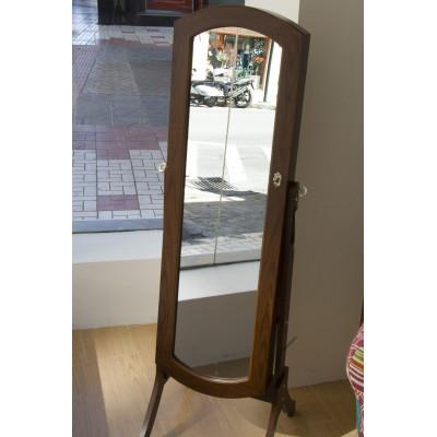 Espejo joyero de madera