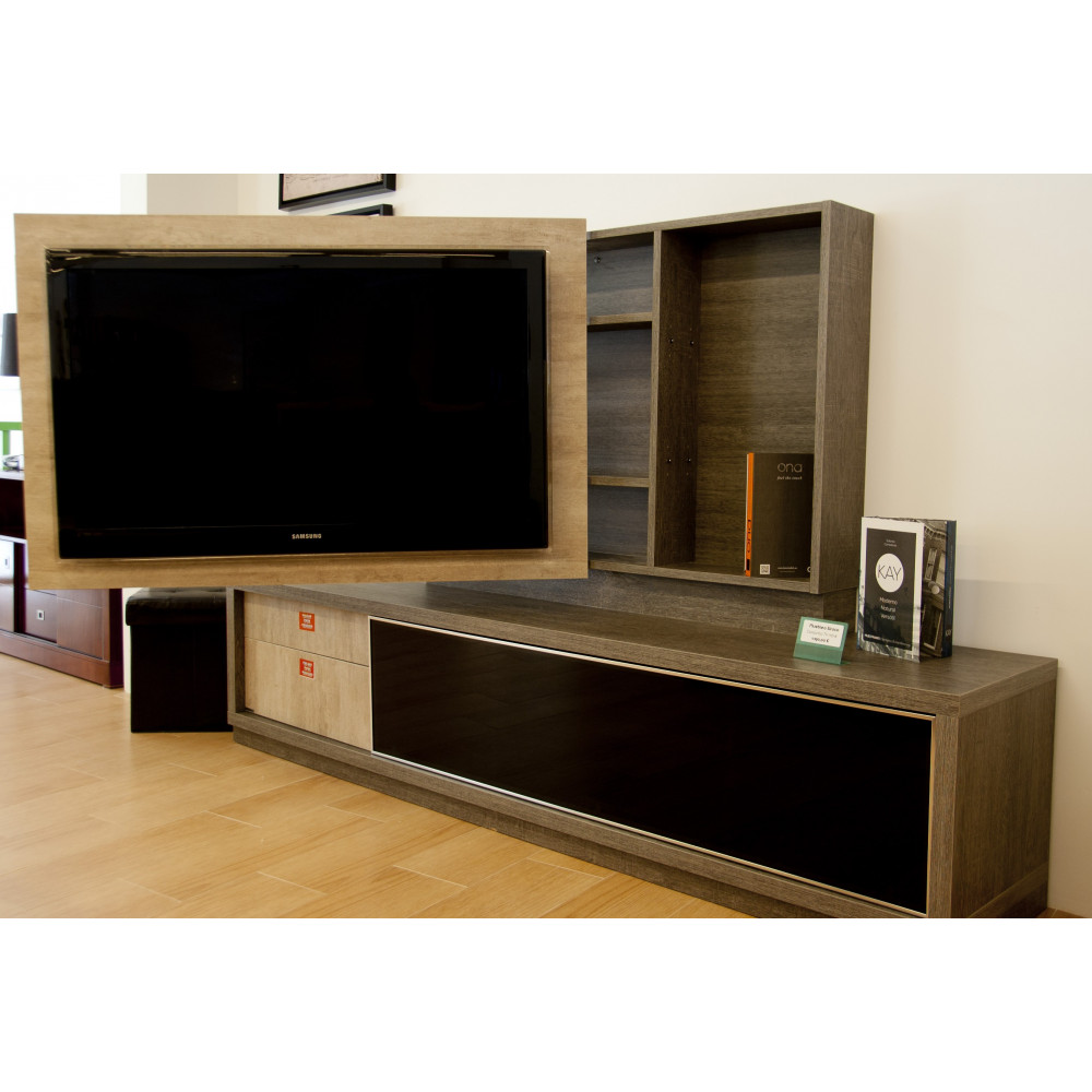 Mueble tv con panel giratorio for Mueble giratorio
