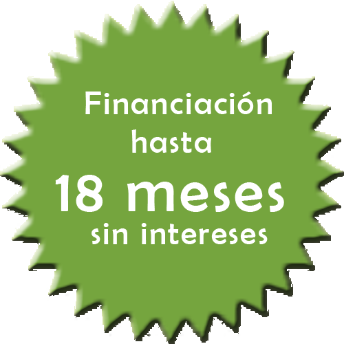 Llámanos: Financiación hasta en 18 meses sin intereses