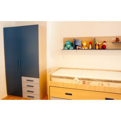Dormitorio juvenil con cama compacto