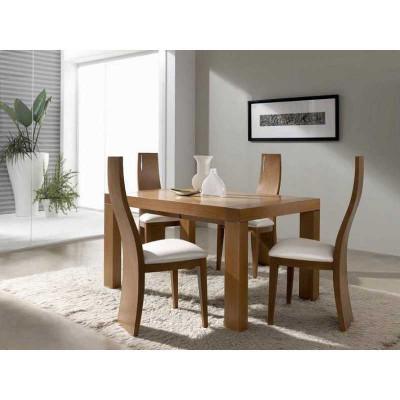Mesa de comedor extensible Mikonos nogal