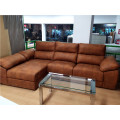Sofá chaiselongue extraible y reclinable con asientos ultraconfort
