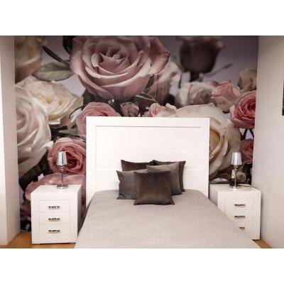 Dormitorio de matrimonio DM lacado en blanco