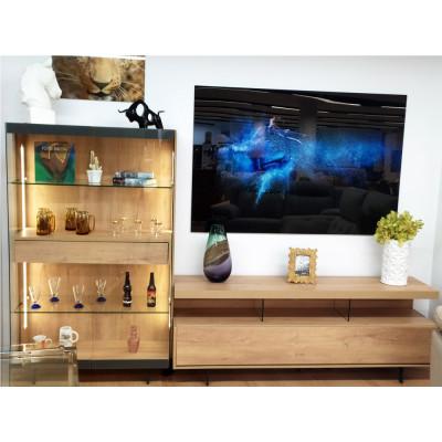 Mueble de salón modular color natural