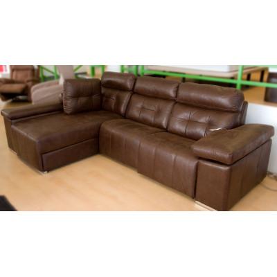 Sofa chaise longue relax motorizado con arcón