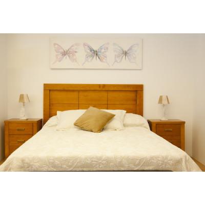 Dormitorio de matrimonio madera natural color cerezo